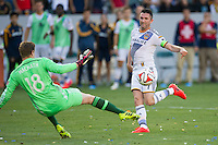 CARSON, CA - May 25, 2014: Los Angeles Galaxy forward Robbie Keane (7) during the LA Galaxy vs Philadelphia Union match at the StubHub Center in Carson, California. Final score, LA Galaxy 4, Philadelphia Union  1.