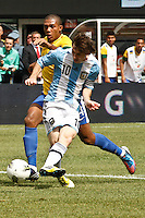 Argentina National soccer team is seen during their friendly soccer match against Brasil national Soccer team at the MetLife stadium in New Jersey, United States, 09 June 2012 Photo by Kena Betancur / VIEWpress..