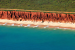 Red Cliffs, Pristine Sea and  Idyllic Coastal Bush at James Price Point, which is now under threat by a proposed gas hub by Woodside Petroleum.<br />