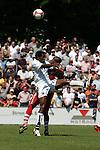 Sandhausen 10.05.2008, Emmanuel Akwuegbu  (SV Sandhausen) und Christian Saba (FC Bayern M&uuml;nchen II) in der Regionalliga beim Spiel SV Sandhausen - FC Bayern M&uuml;nchen II<br /> <br /> Foto &copy; Rhein-Neckar-Picture *** Foto ist honorarpflichtig! *** Auf Anfrage in h&ouml;herer Qualit&auml;t/Aufl&ouml;sung. Belegexemplar erbeten.