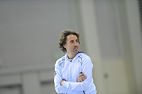 SCHAATSEN: SALT LAKE CITY: Utah Olympic Oval, 12-11-2013, Essent ISU World Cup, training, Bart Veldkamp (trainer/coach Team Stressless), ©foto Martin de Jong
