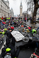 "11.02.2017 - ""10% by 2020 Treasury Protest - Increase Spending for Cycling"" (March & Die-In)"
