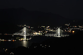 Mar 29, 2010; Nagasaki, JPN - View of Nagasaki at night from Mt. Isa.