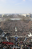 Washington, DC - January 20, 2009 -- Wide shot looking towards the National Mall of the Swearing-in ceremony for Barack Obama as the 44th President of the United States..Credit: Mark Wilson - Pool via CNP