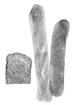 X-ray image of three types of bread (black on white) by Jim Wehtje, specialist in x-ray art and design images.