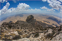 To summit the tallest point in Texas, it is a relatively easy walk up Guadalupe Peak . The path is about 8.6 miles round trip and a gradual 3000 vertical feet gain. From the top of Guadalupe Peak (8,749 feet), you have a great view of El Capitan and the Chihuahuan Desert below. This the high point of Guadalupe Mountains National Park (literally) and the view is well worth effort.