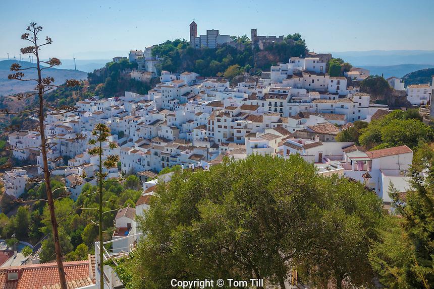 Casares, Spain Malaga, White Village near Gibraltar, Founded in 12th Century