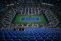 People watch the game at the Arthur Ashe Stadium at the USTA Billie Jean King National Center during the US Open 2014 tennis tournament in New York.  08.29.2014. VIEWpress