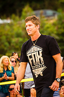 "HONOLULU, Oahu, Waimea Bay - Thursday, November 28, 2012 -- Bruce Irons (HAW). The 28th annual Quiksilver In Memory of Eddie Aikau official opening ceremony and blessing today at Waimea Bay on the North Shore of Oahu. The ceremony  featured this year's 28 Invitees, including newly elected riders John John Florence (Hawaii), Ian Walsh (Maui), and Alex Gray (California), as well as former ""Eddie"" champions Kelly Slater (Florida), Greg Long (California), and Ross Clarke-Jones (Australia). The surfers will be joined by members of the Aikau family, including Eddie's younger brother and Invitee Clyde Aikau...When the Invitees and Alternates paddled out and grouped in the traditional surfer's circle it's about camaraderie and making a connection to the others who will ultimately share in your experience and watch out for your safety..The holding period for the Quiksilver In Memory of Eddie Aikau will commence on Saturday, December 1, and runs through  to February 28, 2013. The event requires one day of quality waves in the giant range of 20 feet or more. Waves of this size are only generated occasionally by hurricane force winds from intense storms in the Pacific NW. The elements of wind, swell height and arrival time to the island's shore must be in perfect alignment to allow a full eight hours of daytime competition..Waimea Bay was Eddie Aikau's home away from home. It was here that he saved countless lives as the Bay's first official lifeguard, and successfully rode the largest waves of his day. An early pioneer of big wave riding in Hawaii, Eddie has inspired generations of ""storm surfers"" who today roam the globe year-round in search of giant waves..The Quiksilver In Memory of Eddie Aikau has only been held a total of eight (8) times, most recently on December 8, 2009. California's Greg Long (California) took the honor that year. .Photo: joliphotos.com"