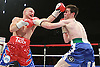 Gavin Rees (red, blue shorts) beats Andy Murray (blue shorts) for the European lightweight title at the Motorpoint Arena, Cardiff, promoted by Matchroom Sports - 04/06/11 - MANDATORY CREDIT: Chris Royle/CRphotos