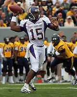 East Carolina quarterback Patrick Pinkney. The WVU Mountaineers defeated the East Carolina Pirates 35-20 at Mountaineer Field at Milan Puskar Stadium, Morgantown, West Virginia on September 12, 2009.