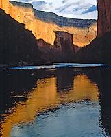 Evening Sunlight at Marble Canyon near Emminence Break, Colorado River, Grand Canyon National Park, Arizona
