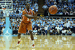 18 December 2013: Texas' Damarcus Croaker. The University of North Carolina Tar Heels played the University of Texas Longhorns at the Dean E. Smith Center in Chapel Hill, North Carolina in a 2013-14 NCAA Division I Men's Basketball game. Texas won the game 86-83.