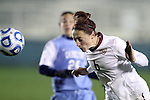 08 November 2013: Florida State's Megan Campbell (6). The Florida State University Seminoles played the University of North Carolina Tar Heels at WakeMed Stadium in Cary, North Carolina in a 2013 NCAA Division I Women's Soccer match and the semifinals of the Atlantic Coast Conference tournament. Florida State won the game 2-1 in overtime.