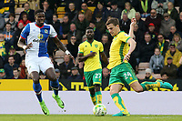 Norwich City's Ryan Bennett tries to get round Blackburn Rovers' Lucas Joao<br /> <br /> Photographer David Shipman/CameraSport<br /> <br /> The EFL Sky Bet Championship - Norwich City v Blackburn Rovers - Saturday 11th March 2017 - Carrow Road - Norwich<br /> <br /> World Copyright &copy; 2017 CameraSport. All rights reserved. 43 Linden Ave. Countesthorpe. Leicester. England. LE8 5PG - Tel: +44 (0) 116 277 4147 - admin@camerasport.com - www.camerasport.com