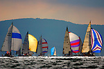 Round the Island Race Freshwater Bay Isle of Wight Yachts spinnakers