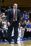 26 November 2014: Duke head coach Mike Krzyzewski. The Duke University Blue Devils hosted the Furman University Paladins at Cameron Indoor Stadium in Durham, North Carolina in a 2014-16 NCAA Men's Basketball Division I game. Duke won the game 93-54.