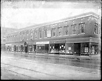 Frederick Stone negative. Steele Building W. Main Street. Also seen in photo, The Great Atlantic & Pacific Tea Co.