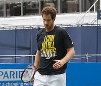 JUN 17 Andy Murray practicing his tennis