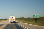 A San Antonio Food Bank truck makes a monthly delivery to Crystal City in Zavala County, Texas. October 2, 2012. Copyright Lance Rosenfield / Prime