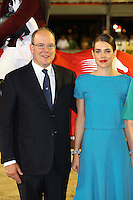 Prince Albert II of Monaco  & Charlotte Casiraghi during the Monte-Carlo Jumping