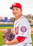 28 February 2016: Washington Nationals relief pitcher Paolo Espino poses for his Spring Training Photo-Day portrait at Space Coast Stadium in Viera, Florida. Mandatory Credit: Ed Wolfstein Photo *** RAW (NEF) Image File Available ***