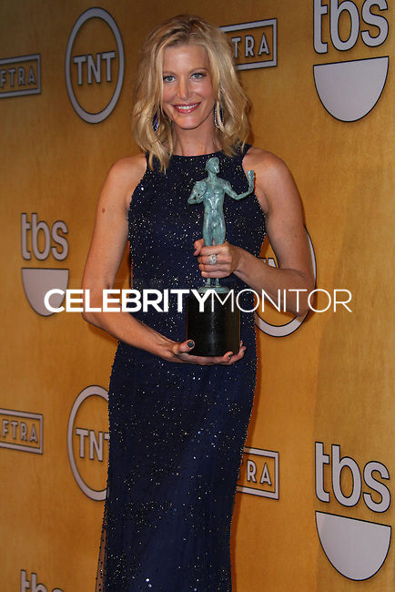 LOS ANGELES, CA - JANUARY 18: Anna Gunn in the press room at the 20th Annual Screen Actors Guild Awards held at The Shrine Auditorium on January 18, 2014 in Los Angeles, California. (Photo by Xavier Collin/Celebrity Monitor)