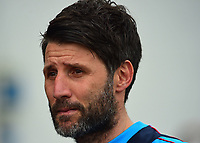 Lincoln City manager Danny Cowley before kick off<br /> <br /> Photographer Andrew Vaughan/CameraSport<br /> <br /> Buildbase FA Trophy Semi Final Second Leg - Lincoln City v York City - Saturday 18th March 2017 - Sincil Bank - Lincoln<br />  <br /> World Copyright &copy; 2017 CameraSport. All rights reserved. 43 Linden Ave. Countesthorpe. Leicester. England. LE8 5PG - Tel: +44 (0) 116 277 4147 - admin@camerasport.com - www.camerasport.com