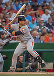 6 August 2016: San Francisco Giants catcher Buster Posey in action against the Washington Nationals at Nationals Park in Washington, DC. The Giants defeated the Nationals 7-1 to even their series at one game apiece. Mandatory Credit: Ed Wolfstein Photo *** RAW (NEF) Image File Available ***