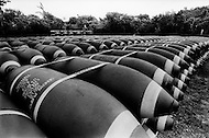 Guam Island. June 1972.<br /> The Andersen Air Force Base on Guam Island from where the B-52 Stratofortress planes took off for Vietnam. 500 and 750lb (pound) bombs in storage near the base.