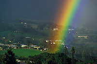 Rainbow over Princeville, Kauai north shore.