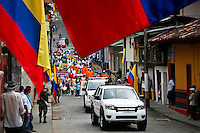 Residents celebrated the Colombia's 202th Independence Day parade in Tamesis, July 20, 2012. Photo by Kena Betancur / VIEW.