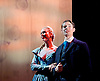 Lady Anna All At Sea <br /> at Park Theatre, London, Great Britain <br /> press photocall <br /> 19th August 2015 <br /> <br /> Antonia Kinlay as Lady Anna <br /> Will Rastall as Daniel Thwaite<br /> <br /> <br /> Photograph by Elliott Franks <br /> Image licensed to Elliott Franks Photography Services