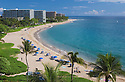 Kaanapali Beach and resort hotels on the island of Maui, Hawaii..