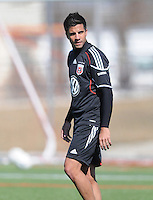 D.C. United midfielder Marcelo Saragosa (11) During the first training session after returning from Arizona, at Long Bridge Park in Arlington Virginia, Monday February 20, 2012.
