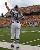 September 4, 2010: Side Judge. The West Virginia Mountaineers defeated the Coastal Carolina Chanticleers 31-0 on September 4, 2010 at Mountaineer Field, Morgantown, West Virginia.