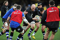 Matt Garvey of Bath Rugby in action during the pre-match warm-up. Aviva Premiership match, between Bath Rugby and Northampton Saints on December 5, 2015 at the Recreation Ground in Bath, England. Photo by: Patrick Khachfe / Onside Images