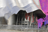 Undulating walls , EMP Museum at Seattle Center, Experience Music Project, designed by Frank Gehry, Seattle, Washington, USA
