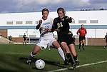 27 November 2009: North Carolina's Lucy Bronze (ENG) (12) and Wake Forest's Jackie Logue (21). The University of North Carolina Tar Heels defeated the Wake Forest University Demon Deacons 5-2 at Fetzer Field in Chapel Hill, North Carolina in an NCAA Division I Women's Soccer Tournament Quarterfinal game.