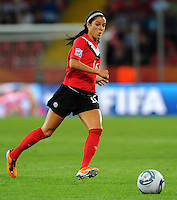 Jonelle Filigno of team Canada during the FIFA Women's World Cup at the FIFA Stadium in Dresden, Germany on July 5th, 2011.
