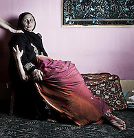 Hameeda was rendered half widow in 1992. Her 35-year-old husband, Gulam, worked as a baker. He was working overnight when unidentified men took him away. Hameeda 50 years-old at that day, came to bring him tea when he was suddenly missing. Two years later her husband's brother was killed by CRPF (paramilitary group) when launched a grenade into his shop and exploded. The paramilitary suspected him as Islamist militant, but this was never confirmed. Srinagar, Indian administrated Kashmir.