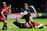 Nick Tompkins of Saracens in possession. European Rugby Champions Cup match, between Saracens and the Scarlets on October 22, 2016 at Allianz Park in London, England. Photo by: Patrick Khachfe / JMP