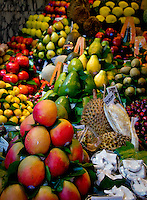 Food markets and beautiful displays of raw to prepared foods at various markets, food stalls and artisanal stands world wide.