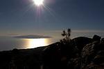 Four islands at sunset, taken from Tenerife, La Gomera,  La Palma, El Heiro. Tenerife, Canary Islands,Spain
