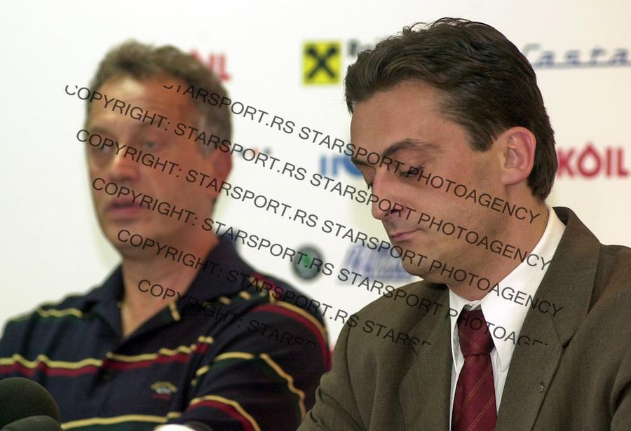 SPORT KOSARKA CRVENA ZVEZDA  Zmago Sagadin Zivorad Andjelkovic Zivorad Andjelkovic 5.10.2004. foto: Pedja Milosavljevic