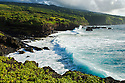Coastline at Oheo Pools area, Kipahulu District, Haleakala National Park, Maui, Hawaii.