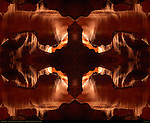 Fractal Cross, Fractal Composite, Upper Antelope Canyon, Tse-Bighanilini, Slot Canyon, Lake Powell Navajo Tribal Park, Page, Arizona