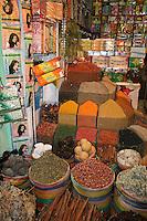 Hurghada, Egypt. Stort utvalg av krydder, men en må prute kraftig for ikke å bli lurt. Foto: Bente Haarstad