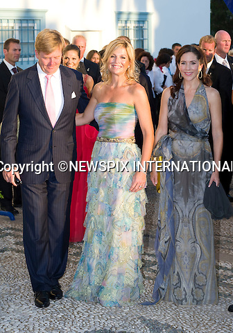 "Crown Princess Mary, Crown Princess Maxima and Crown Prince Willem-Alexander_.The Wedding of Prince Nikolaos and Tatiana Blatnik attended by many members of European Royalty at St Nikolaos Church on the Island of Spetses_Grecce_24/08/2010.Mandatory Credit Photo: ©DIAS-NEWSPIX INTERNATIONAL..**ALL FEES PAYABLE TO: ""NEWSPIX INTERNATIONAL""**..IMMEDIATE CONFIRMATION OF USAGE REQUIRED:.Newspix International, 31 Chinnery Hill, Bishop's Stortford, ENGLAND CM23 3PS.Tel:+441279 324672  ; Fax: +441279656877.Mobile:  07775681153.e-mail: info@newspixinternational.co.uk"
