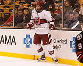 Jacob Olson (Harvard - 26) - The Harvard University Crimson defeated the Northeastern University Huskies 4-3 in the opening game of the 2017 Beanpot on Monday, February 6, 2017, at TD Garden in Boston, Massachusetts.